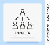 delegate thin line icon. boss...   Shutterstock .eps vector #1657679386
