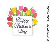 happy mothers day greeting card.... | Shutterstock .eps vector #1657696570