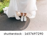 Bride In Comfortable Sneakers...