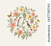 birds and butterflies are in... | Shutterstock .eps vector #1657700743