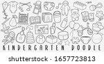 kindergarten baby doodle line...   Shutterstock .eps vector #1657723813