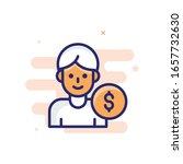 employee salary vector... | Shutterstock .eps vector #1657732630