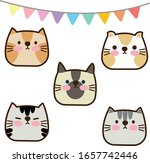 cute cats pet art vector  | Shutterstock .eps vector #1657742446