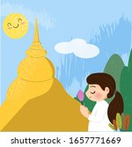 cute female buddhists pay...   Shutterstock .eps vector #1657771669