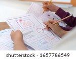 asian startup designer creating ...
