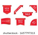 sale ribbons banners red vector | Shutterstock .eps vector #1657797313