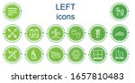 editable 14 left icons for web...