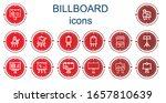 editable 14 billboard icons for ...   Shutterstock .eps vector #1657810639