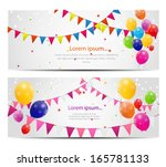 Color Glossy Balloons Card...