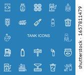 editable 22 tank icons for web... | Shutterstock .eps vector #1657811479