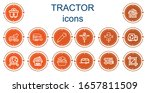 editable 14 tractor icons for... | Shutterstock .eps vector #1657811509