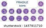 editable 14 fragile icons for...   Shutterstock .eps vector #1657811710