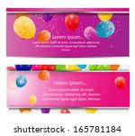 color glossy balloons card... | Shutterstock .eps vector #165781184