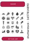 shine icon set. 25 filled shine ...   Shutterstock .eps vector #1657814890