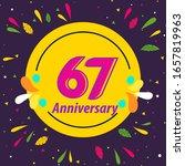 67 years anniversary...   Shutterstock .eps vector #1657819963