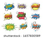 collection of nine multicolored ... | Shutterstock .eps vector #1657830589