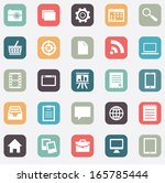 set of social media buttons for ... | Shutterstock .eps vector #165785444