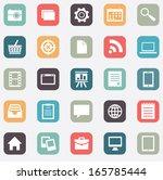set of social media buttons for ...   Shutterstock .eps vector #165785444