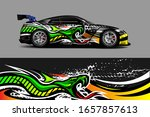 racing car wrap decal... | Shutterstock .eps vector #1657857613