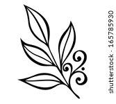original decorative leaf with... | Shutterstock . vector #165785930