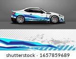 car wrap. modern racing car... | Shutterstock .eps vector #1657859689