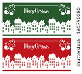 vector merry christmas card... | Shutterstock .eps vector #165790280