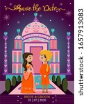 save the date.cute indian...   Shutterstock .eps vector #1657913083