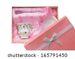 gift set of cup  plate and... | Shutterstock . vector #165791450