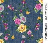 seamless flower pattern on...   Shutterstock .eps vector #1657941943