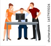 employees who ask for help from ... | Shutterstock .eps vector #1657955026