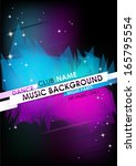 vertical music background with... | Shutterstock .eps vector #165795554