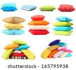 collage of color pillows   Shutterstock . vector #165795938