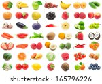 collection of various fruits... | Shutterstock . vector #165796226