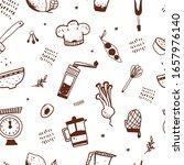 kitchen seamless pattern ... | Shutterstock .eps vector #1657976140