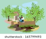 vector house with mailbox | Shutterstock .eps vector #165799493