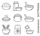 oatmeal icons set. outline set... | Shutterstock .eps vector #1657996066