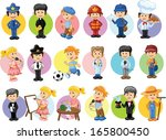 cartoon characters of different ... | Shutterstock .eps vector #165800450