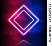 glowing neon rhombus double... | Shutterstock .eps vector #1658009536