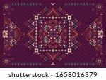 rectangular bandana print... | Shutterstock .eps vector #1658016379