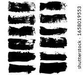 set of black ink horizontal...   Shutterstock .eps vector #1658019553