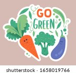 cute characters of green... | Shutterstock .eps vector #1658019766