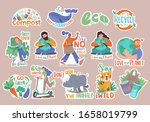 set collection of modern doodle ... | Shutterstock .eps vector #1658019799