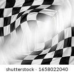 checkered black and white... | Shutterstock . vector #1658022040
