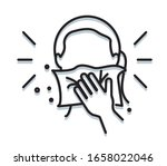 personal hygiene   covering... | Shutterstock .eps vector #1658022046