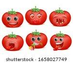 tomato emoji cartoon character...   Shutterstock .eps vector #1658027749