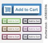 add to cart button  flat design ...