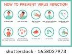 how to prevent virus infectious ... | Shutterstock .eps vector #1658037973