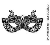 beautiful masquerade mask ... | Shutterstock .eps vector #165806030
