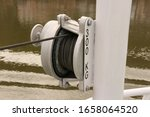 Vlose Up Of A Winch On A...