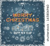 christmas greeting card wiht...   Shutterstock .eps vector #165806960